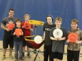 Rob McLeod visited the Ayr Motor Centre on March 12 to give a frisbee session to kids. Photo: Stephanie Jellett/Bugle-Observer