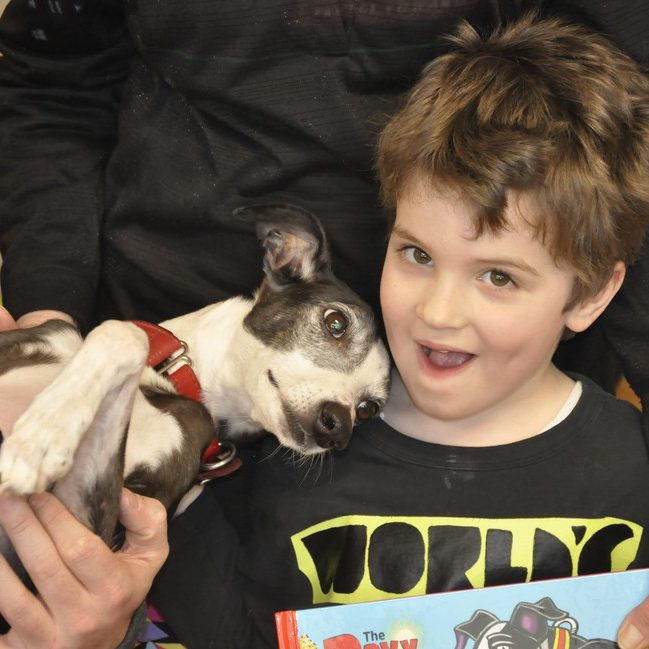 Woodstock Native Teaching Virtues with Children's Book on Record-Holding Canine