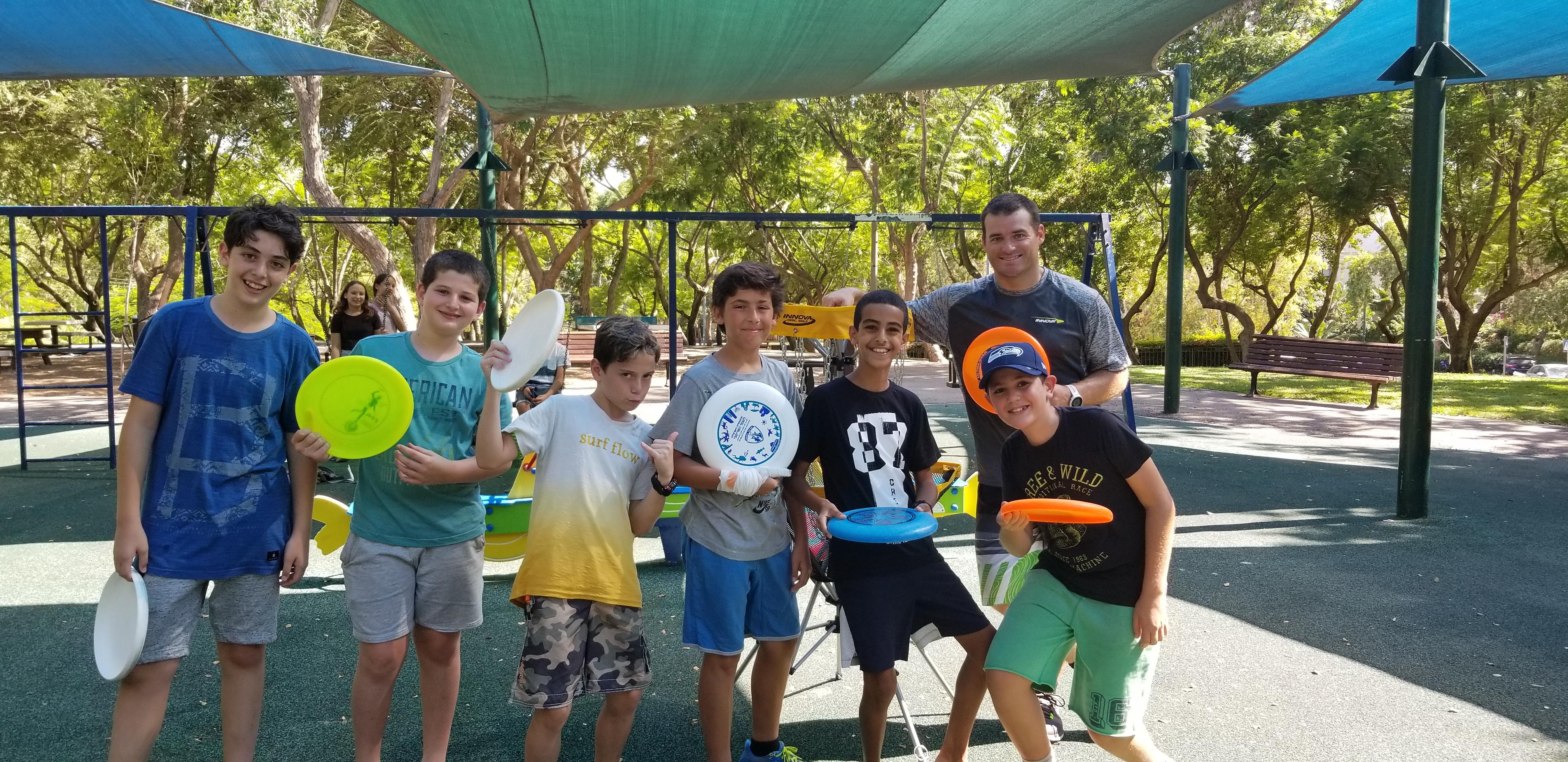 Israeli Playground Frisbee Trick Shots