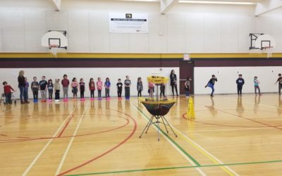 Frisbee and Unplugging at Blaine Lake Composite School
