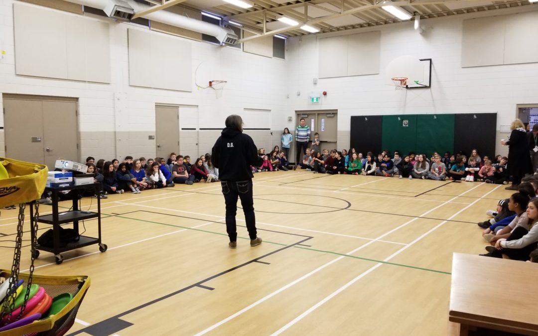 Frisbee Trickshot at St Joseph Elementary School in Cambridge, Ontario
