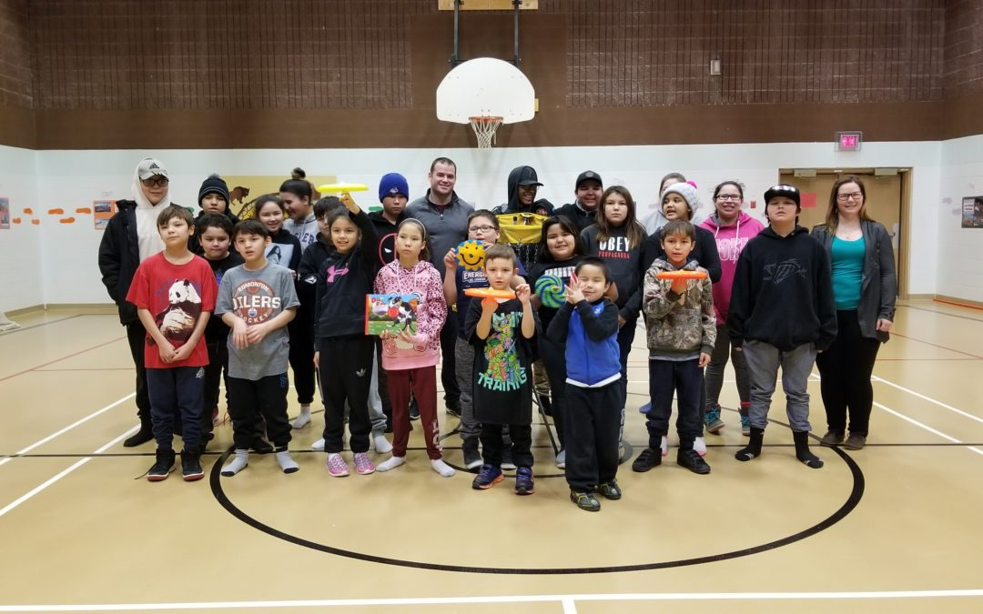 Frisbee and Unplugging at Conklin Community School