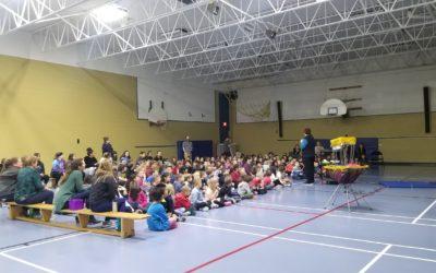 Frisbee and Unplugging at Van Bien Elementary