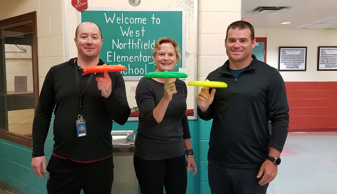 Frisbee and Unplugging at West Northfield Elementary