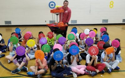 Frisbee and Unplugging at Annunciation Catholic Elementary
