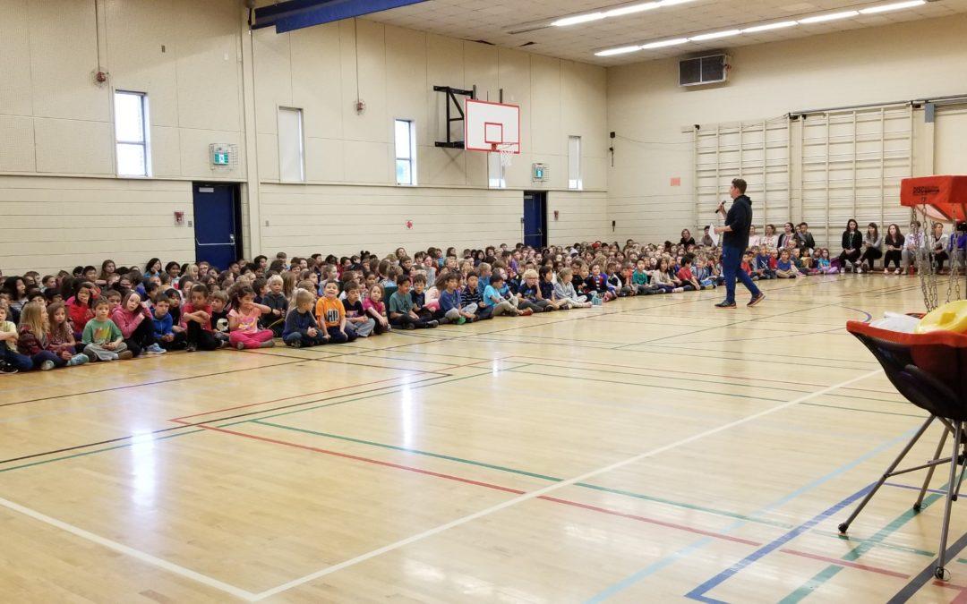 Frisbee Skip Trickshot for 450+ Kids at Varsity Acres School