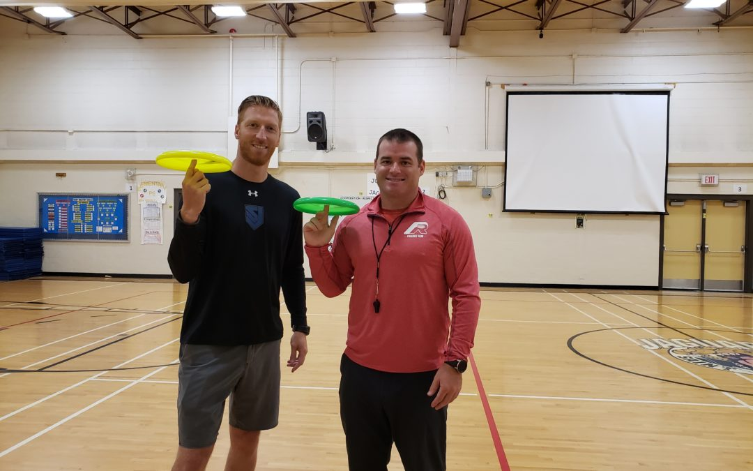 Frisbee and Unplugging at St. Joseph School