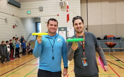 Frisbee and Unplugging at Olympic Heights School