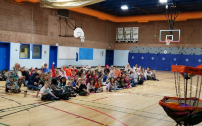 Frisbee and Unplugging at Greely Road School
