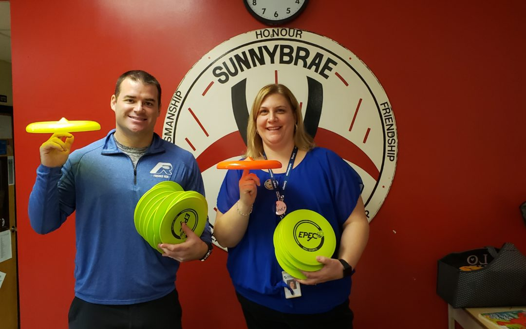 Frisbee and Unplugging at Sunnybrae Public School