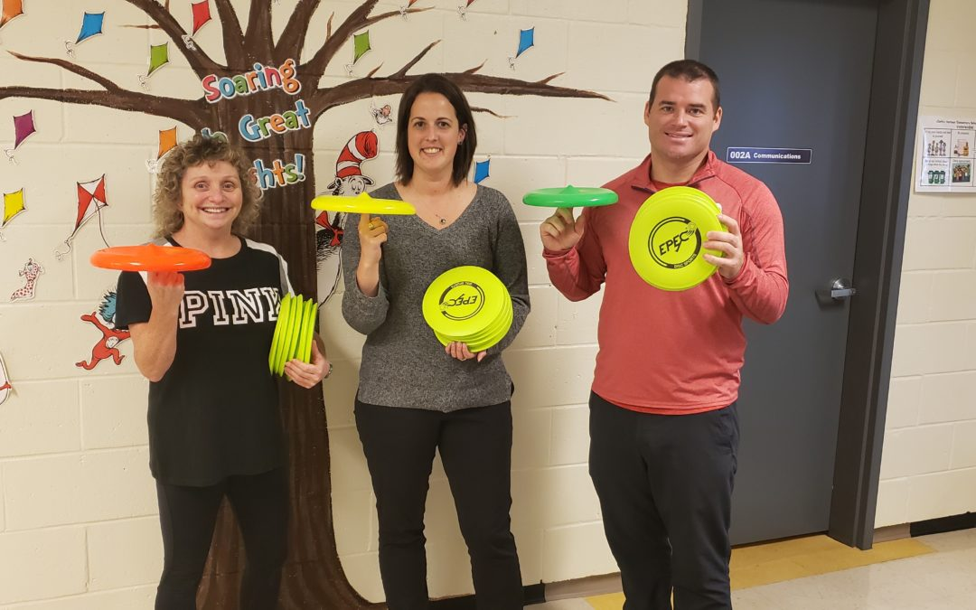 Frisbee and Unplugging at Clark's Harbour Elementary School
