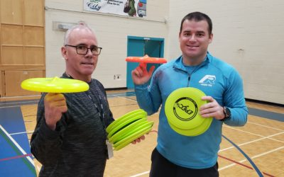 Frisbee and Unplugging at Basinview Drive Community School