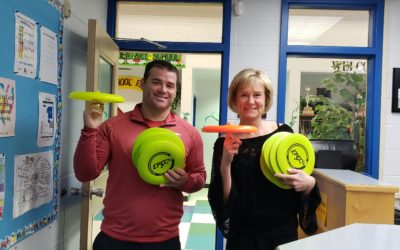 Learning Frisbee and Building Resiliency at Vermilion Elementary School