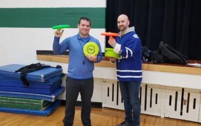 Frisbee Trick Shot and Skills Workshop at Cut Knife Community School