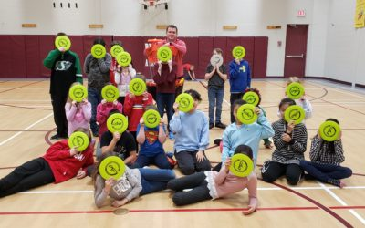 Frisbee Trick Shot and Demo at Bready Elementary School