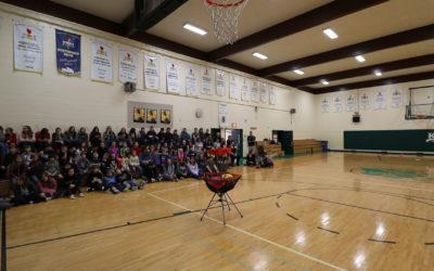 Frisbee Trick Shot and Workshops at Kenaston School
