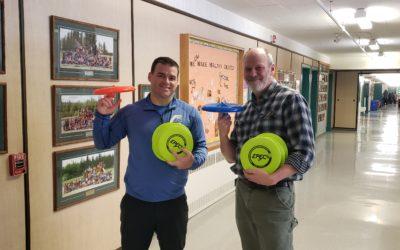 Frisbee Trick Shots at Takhini Elementary School