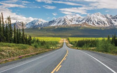 Driving on the Alaska Highway into the Yukon for the First Time Ever
